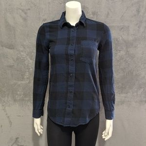 Vans blue plaid long sleeve button up